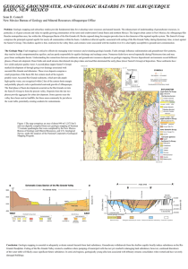 GEOLOGY, GROUNDWATER, AND GEOLOGIC HAZARDS IN THE ALBUQUERQUE BASIN, NEW MEXICO