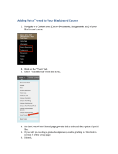 Adding VoiceThread to Your Blackboard Course
