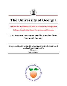 The University of Georgia U.S. Pecan Consumer Profile Results from National Survey