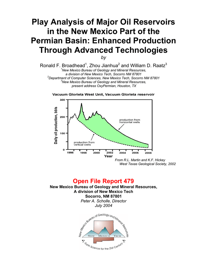 Play Analysis of Major Oil Reservoirs Permian Basin