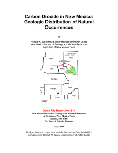 Carbon Dioxide in New Mexico: Geologic Distribution of Natural Occurrences