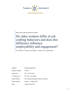 Do older workers differ in job crafting behaviors and does this
