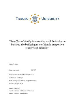 The effect of family interrupting work behavior on supervisor behavior