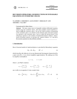 RECURSION OPERATORS AND REDUCTIONS OF INTEGRABLE EQUATIONS ON SYMMETRIC SPACES