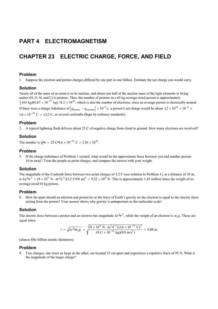 PART 4 ELECTROMAGNETISM Problem
