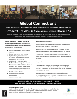 Global Connections October 9–19, 2016  @