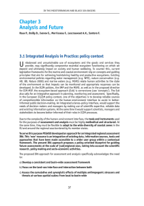 U Chapter 3 Analysis and Future 3.1 Integrated Analysis in Practice: policy context