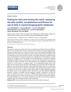 Fishing for data and sorting the catch: assessing