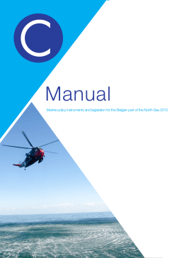 Manual Marine policy instruments and legislation for the Belgian part of...