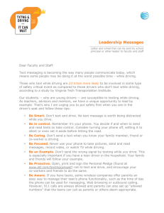 Leadership Messages
