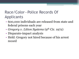 Race/Color—Police Records Of Applicants