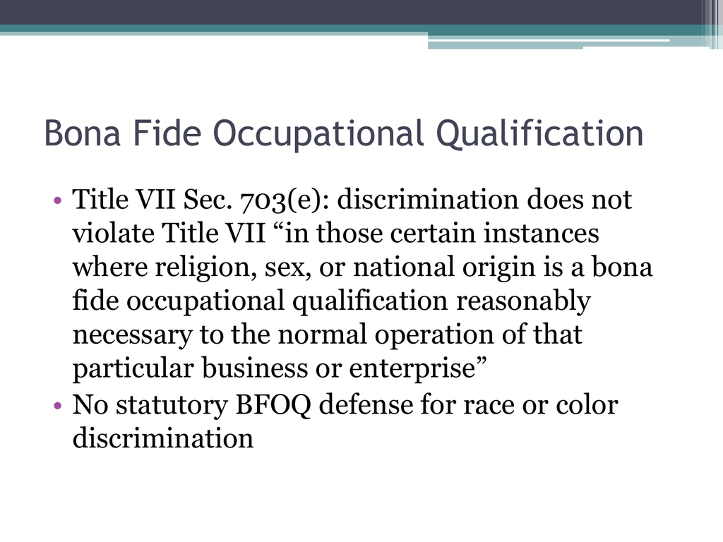 Two instances where sex may be a bona-file occupation requirment