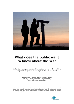 What does the public want to know about the sea?