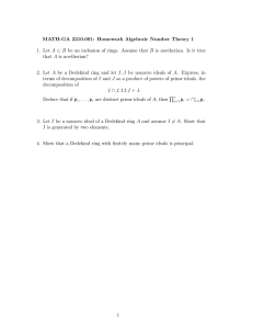 MATH-GA 2210.001: Homework Algebraic Number Theory 1