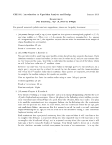 CSE 331: Introduction to Algorithm Analysis and Design Summer 2013 Homework 6