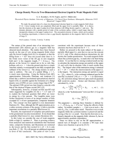 Charge Density Wave in Two-Dimensional Electron Liquid in Weak Magnetic...