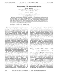 Hydrodynamics of the Quantum Hall Smectics V 84, N 25