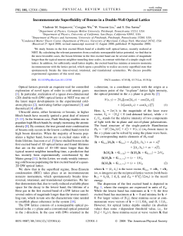 Incommensurate Superfluidity of Bosons in a Double-Well Optical Lattice Congjun Wu,