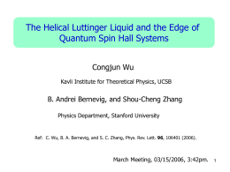 The Helical Luttinger Liquid and the Edge of Congjun Wu