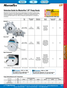 Selection Guide for Masterflex I/P Pump Heads L/S