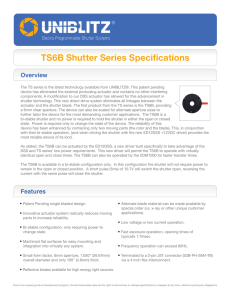 TS6B Shutter Series Specifications Overview