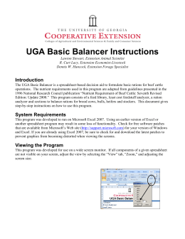 UGA Basic Balancer Instructions