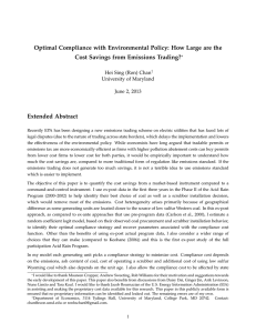 Optimal Compliance with Environmental Policy: How Large are the Extended Abstract