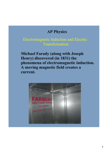 AP Physics Michael Farady (along with Joseph  Henry) discovered (in 1831) the  phenomena of electromagnetic induction.