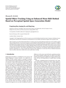 Research Article Spatial Object Tracking Using an Enhanced Mean Shift Method