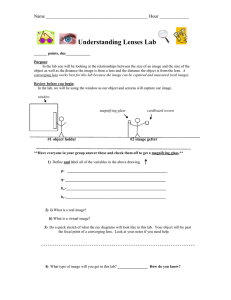 Understanding Lenses Lab Name _____________________________________________ Hour _____________