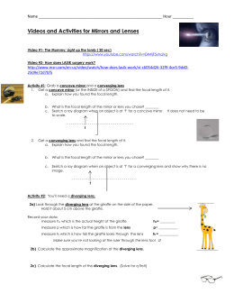 Light And Optics Test Review Sheet