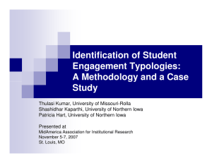 Identification of Student Engagement Typologies: A Methodology and a Case Study