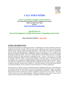 CALL FOR PAPERS Special Issue on