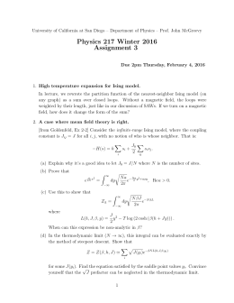 Physics 217 Winter 2016 Assignment 3