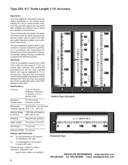 """Type 252, 4½"""" Scale Length 1½% Accuracy"""