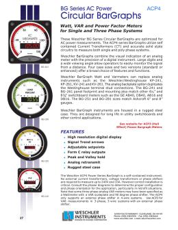 Circular BarGraphs BG Series AC Power