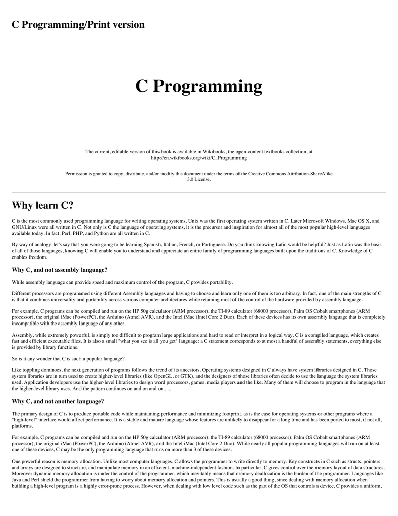 C Programming Print Version Embedded Systems 8051 Microcontroller Wikibooks Open Books For An