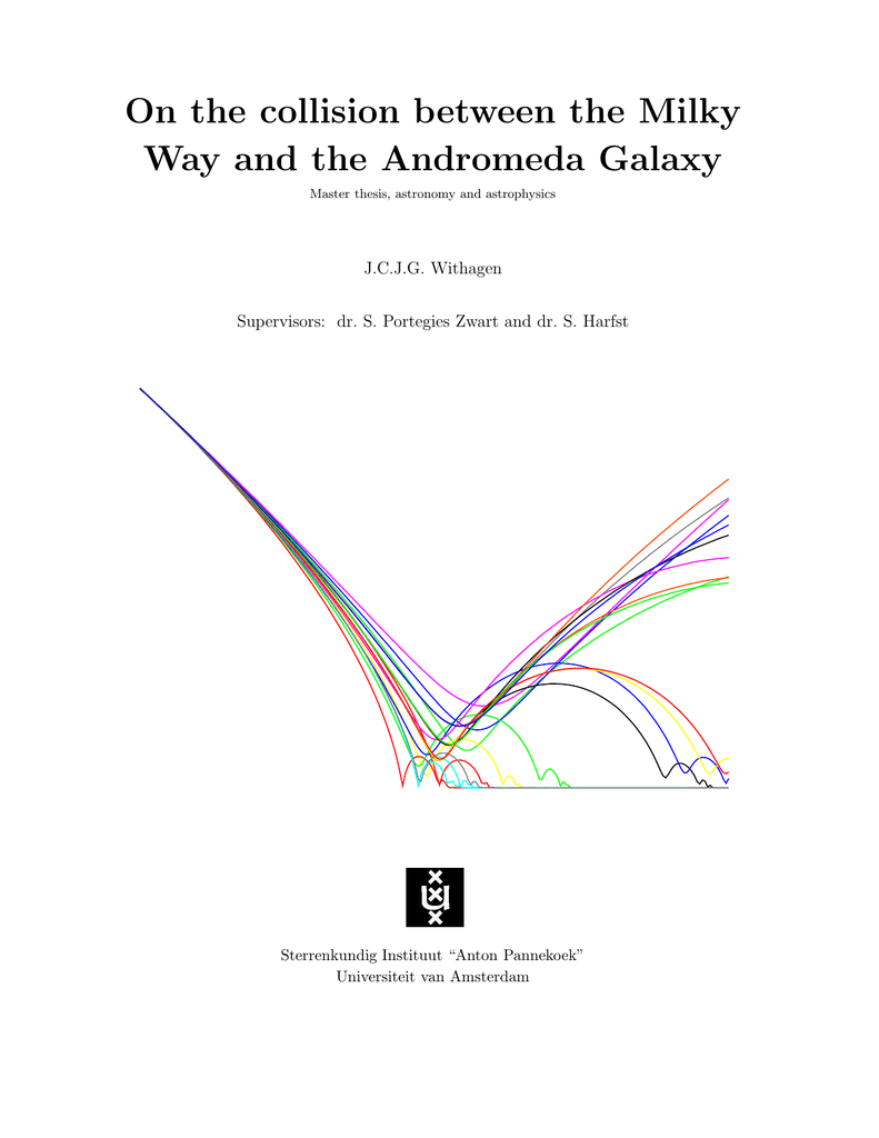 on the collision between the milky way and the andromeda galaxy master  thesis, astronomy and astrophysics j c j g  withagen supervisors: dr