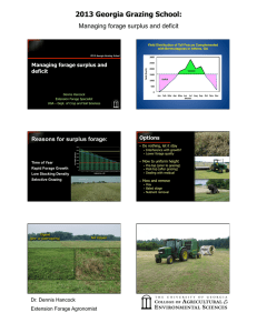 2013 Georgia Grazing School: Managing forage surplus and deficit deficit
