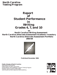 Report of Student Performance in