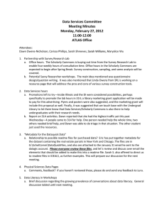 Data Services Committee Meeting Minutes Monday, February 27, 2012 11:00-12:00