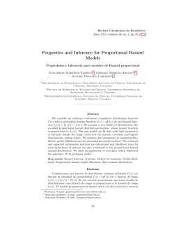 Properties and Inference for Proportional Hazard Models