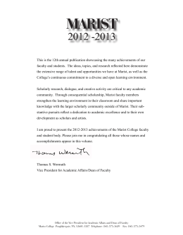 This is the 12th annual publication showcasing the many achievements... faculty and students.  The ideas, topics, and research reflected...