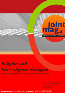 joint mag Religion and Interreligious dialogue: