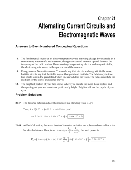 Alternating Current Circuits and Electromagnetic Waves Chapter 21