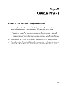 Quantum Physics  Chapter 27 Answers to Even Numbered Conceptual Questions