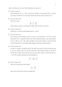 1 Quiz 3 solutions are in order of the questions for... (1). Correct answer C