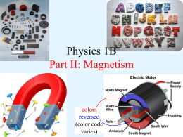 Physics 1B Part II: Magnetism colors reversed