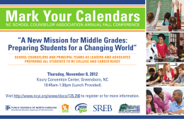 "Mark Your Calendars ""A New Mission for Middle Grades:"