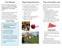Our Mission Major Requirements Play Innovation Lab